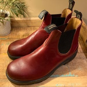 Blundstone Men's Leather Red Boots SPS x-tra